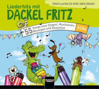 Liederhits mit Dackel Fritz, 3 Audio-CDs