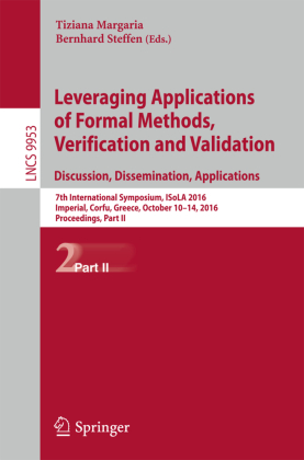 Cover Leveraging Applications of Formal Methods, Verification and Validation: Discussion, Dissemination, Applications